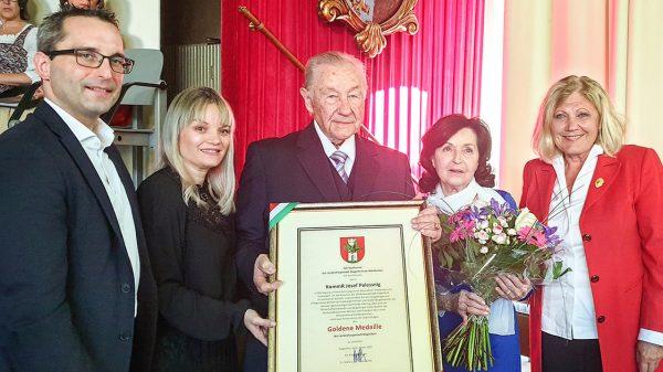 Goldene Medaille für Josef Polessnig